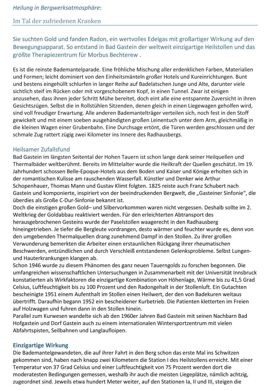 Fotografie des Artikels in der Zeitschrift Natur und Heilen 8/2015