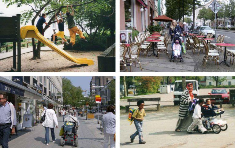 Fotocollage von Lösungen des Quartiersmarketings für die Stadt Bremen